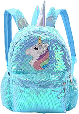 Girls Gift Plush unicorn Backpack Student Satchel Knapsack Travel bag Daypack UK