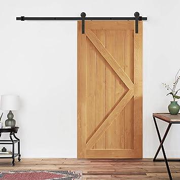 PeggyHD - Kit de riel plano para puerta corrediza de granero con ...
