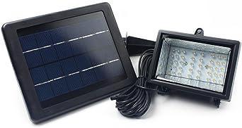 lieyang funciona con energía solar al aire libre jardín foco 40 bombillas LED verde: Amazon.es: Iluminación
