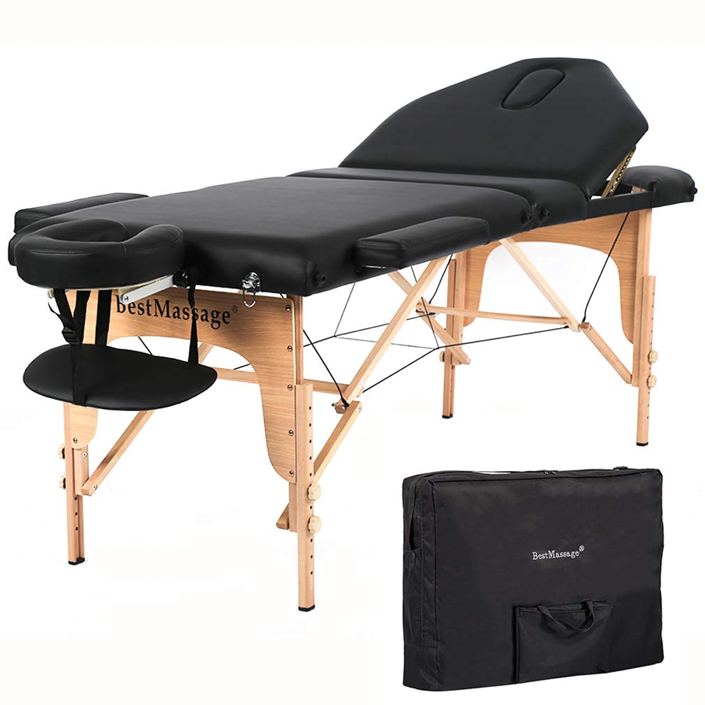 Massage Table Massage Bed Spa Bed 73 Height Adjustable Bed Massage Portable Salon Table Portable PU Massage Table Bed W Carry Case