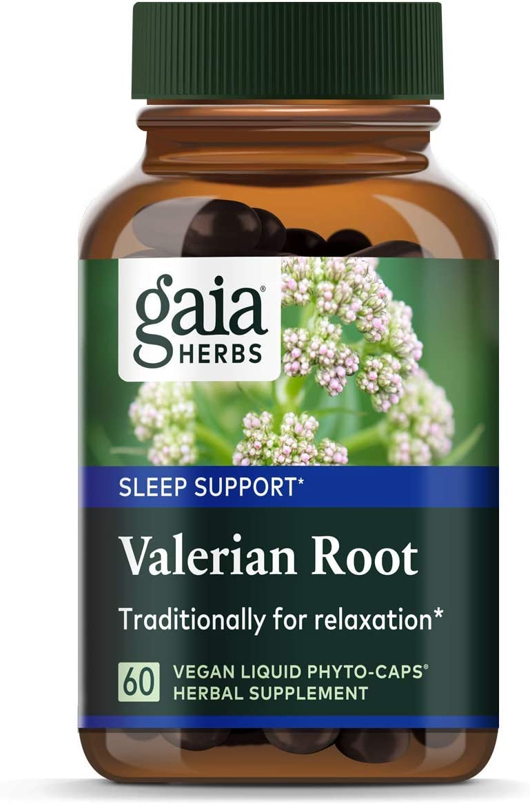 Gaia Herbs, Valerian Root, Sleep Support, Non Habit Forming Herbal Sleep Aid, Melatonin Free, Vegan Liquid Capsules, 60 Count