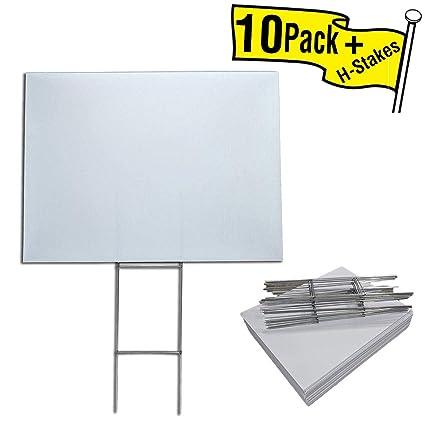 Amazon.com: 10 unidades de letreros en blanco de 18 x 24 ...