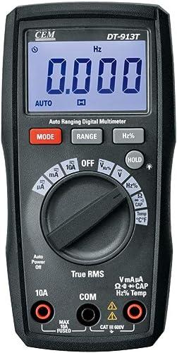 CEM DT-913T 4000 Counts True RMS Compact Digital Multimeters Auto Range