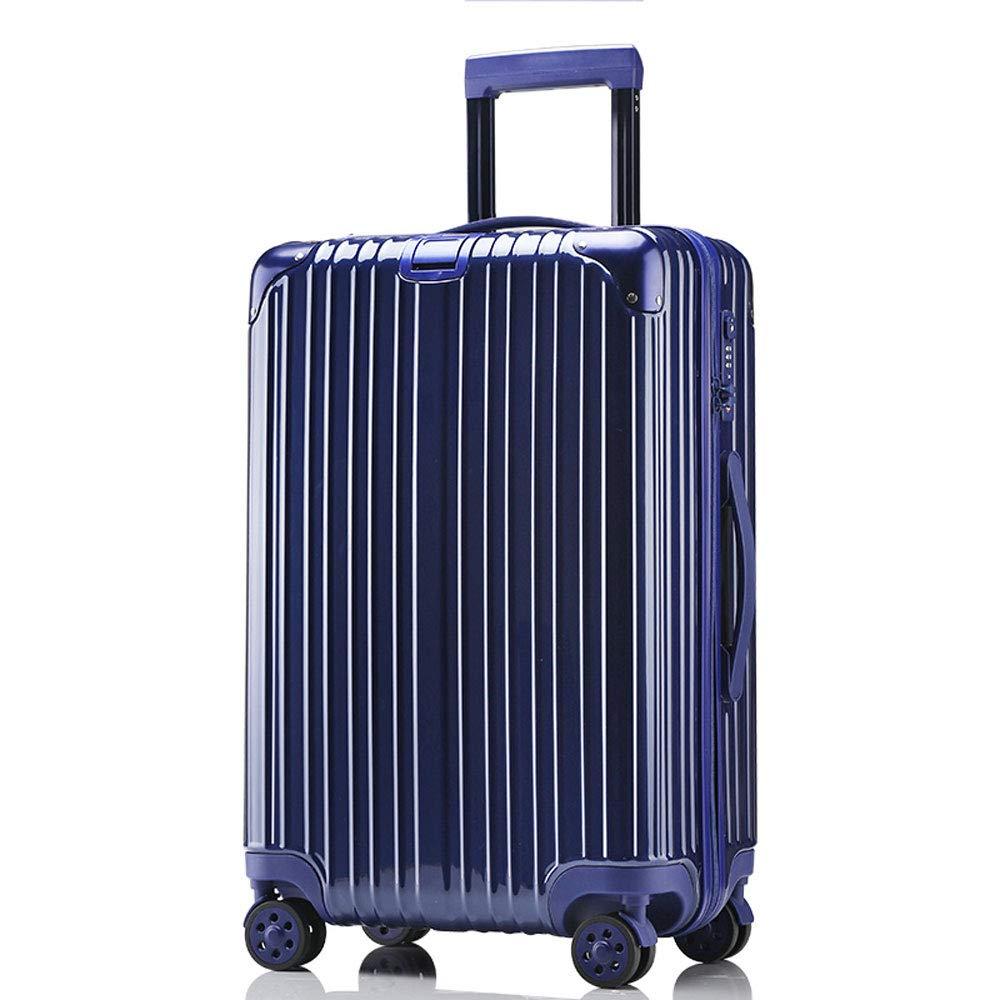 DS-トロリー トロリーケース - ABS/PC、TSA税関コードロック、高耐荷重ローラー、スタイリッシュな防水クリーニングが簡単防爆ジッパー万能ホイール学生ビジネススーツケース - 4色2サイズあり && (色 : 青, サイズ さいず : 35*23*54cm) 35*23*54cm 青 B07MQNB64W