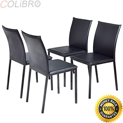 Amazon Com Colibrox Set Of 4 Dining Chairs Pu Leather Armless