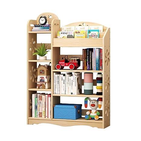 super popular ea477 2ad78 Children's bookshelf solid wood flower stand four floor ...