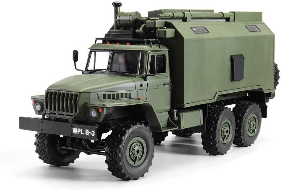 YaGFeng Camión Radiocontrolado 1/16 2.4G 6WD RC Coche RTR De Comunicación del Vehículo Militar sobre Orugas Comando Camión De Juguete De La Roca (Color : Green, Size : One Size)