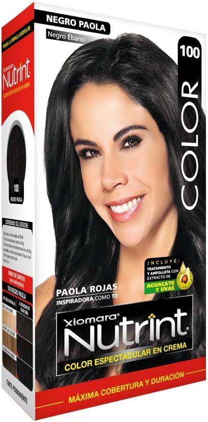 Xiomara Nutrint Tinte Negro Ebano N100, Pack of 1, 1 count: Amazon.com.mx: Salud y Cuidado Personal