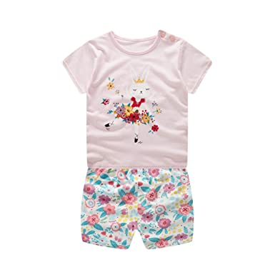 5cf06dd38 Amazon.com  Lookvv Infant Baby Toddler Girl Summer Clothes Cotton ...
