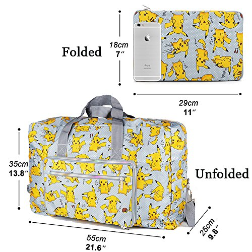1bf9b7445d2d Foldable Travel Duffle Bag for Women Girls Large Cute Floral Weekender  Overnight Carry On Bag for Kids Checked Luggage Bag