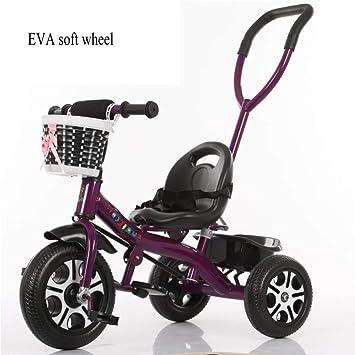 JYY Bicicleta De 3 Ruedas con Triciclo Desmontable para Niños. Pedal con Mango Desmontable 2 En 1 Trike Buggy 18 Meses A 5 Años,O: Amazon.es: Hogar