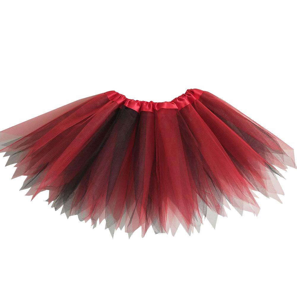 Kids Girls Fashion Color Block Gauze Princess Ballet Dancewear Party Tutu Skirt