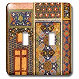 3dRose lsp_162526_2 Arabian Style Multicolor Abstract Pattern Colorful Turkish Moroccan Islamic Islam Muslim Vintage Art Light Switch Cover
