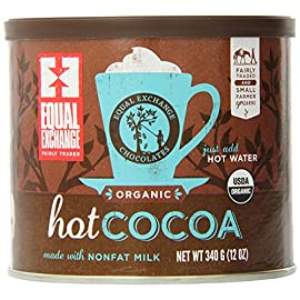 Equal Exchange Hot Cocoa Mix, 12-Ounce Cans 31 Made with high quality dutch process cocoa Made with non-fat milk Fairly Traded