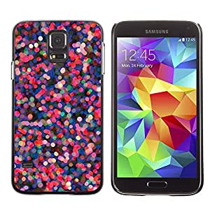 Planetar® ( Pink Purple Dots Abstract Red Lights ) SAMSUNG Galaxy S5 V / i9600 / SM-G900F / SM-G900M / SM-G900A / SM-G900T / SM-G900W8 Fundas Cover Cubre Hard Case Cover