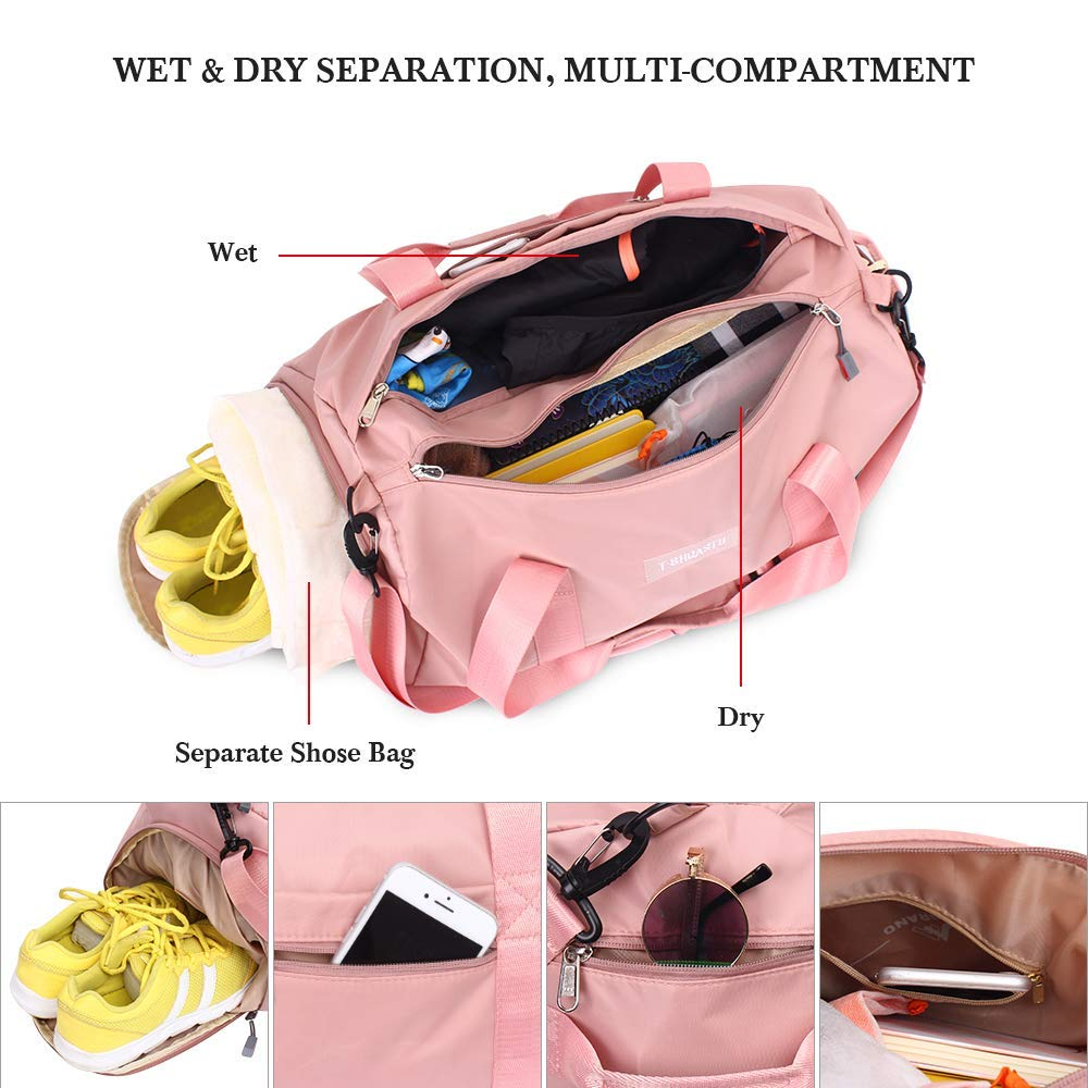 dca20c6b30 60% discount on Sports Gym Bag with Wet Pocket & Shoes Compartment ...