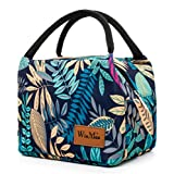 Winmax Lunch Cooler Bag, Insulated Lunch Box Bags, Portable and Reusable Lunch Bag for Women (Leaves Pattern)