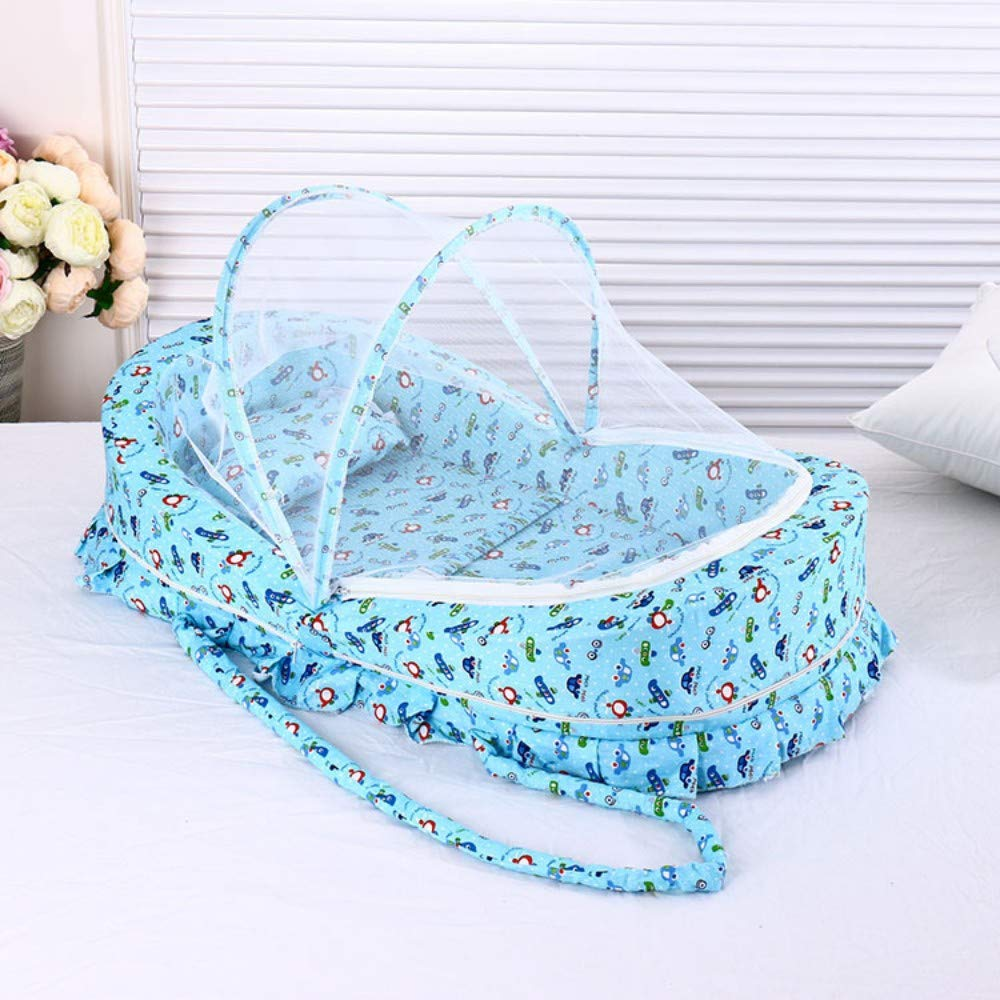 TYZNB Baby Mosquito net Summer Mosquito Folding Portable Free Installation Child Mosquito net Bed Full Cover 2019 New, Blue