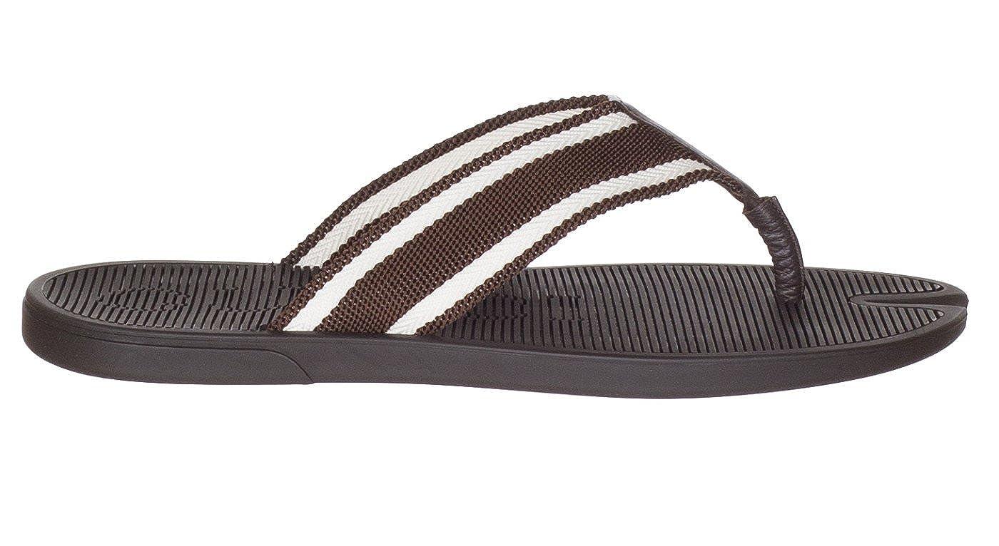 a1eab1500e241b Amazon.com  Gucci Men s Brown Rubber Flip Flop Thong Sandals Shoes ...