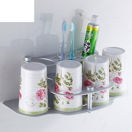 Espacio de aluminio del cepillo de dientes portavasos/Portavasos creativa/ Parejas sistemas de la