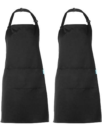 Esonmus Grembiule regolabile da 2 pezzi con 2 tasche Grembiuli da Cucina per  Cuoco 3e751d7501a2