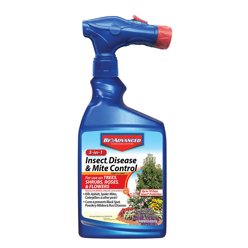 BioAdvanced Bayer 701287A 3-in-1 Insect Disease and Mite Control Ready-to-Spray, 32-Ounce
