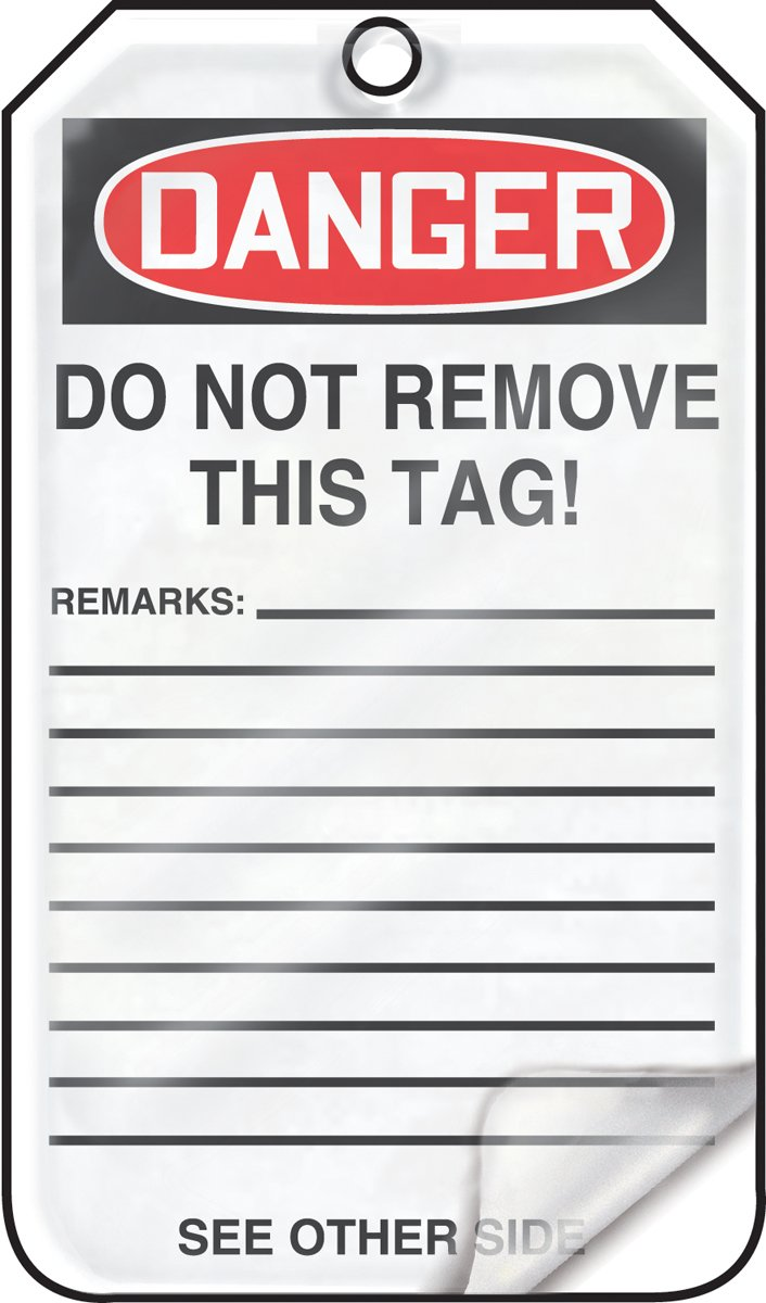 Accuform MDT220LPM RP-Plastic Safety Tag Pack of 5 LegendDanger DO NOT Operate This Switch 5.75 Length x 3.25 Width x 0.015 Thickness Red//Black on White