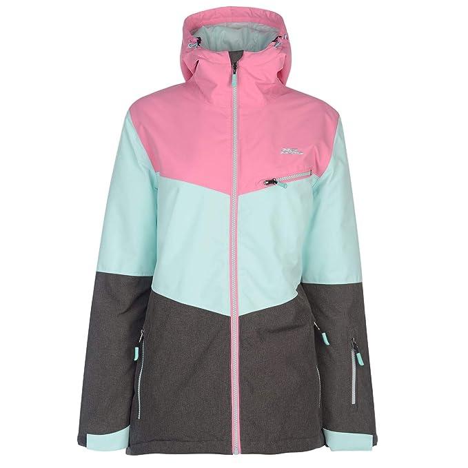 No Fear - Chaqueta de esquí para Mujer, Todo el año, Mujer, Color Rosa/Blau/Charc, tamaño S: Amazon.es: Ropa y accesorios