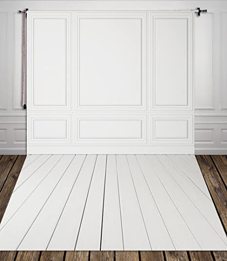 amazon com 5x7ft white wall and white wood floor backdrop