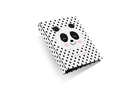 miquelrius/ /Pack avec 2/dossiers carton 4/Anneaux de 25/mm A4/jordi labanda Panda Motif /à Pois