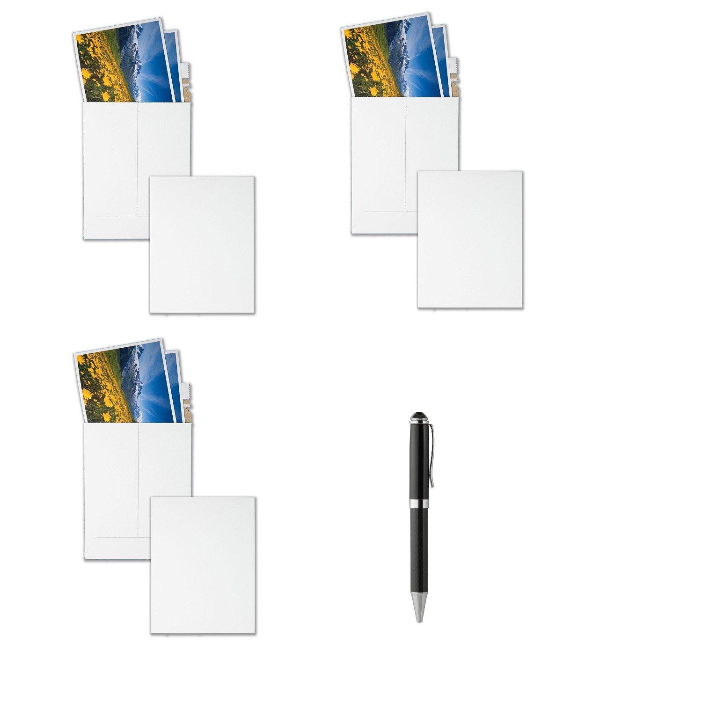 Quality Park Extra-Rigid Fiberboard Photo/Document Mailers, 6 x 8 Inches, Box of 25, Sold As 3 Packs (64007) - Bundle Includes Plexon Ballpoint Pen (3-Pack Bundle)