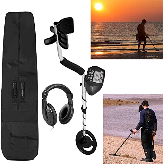 American Hawks Gold Silver Metal Detector for Adults Kids Pinpoint Display Type of Object Depth Waterproof Search Coil Headphone Carry Bag High Accuracy Treasure Hunting 3 Modes Professional