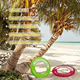 Chimocee Kids Flying Frisbee Ring, Super Fun Play Outdoor Toys Flying Discs for Boys & Girls, Best for the Beach, Garden, Park or School Play Playground, Great for Birthday, Holiday Gifts (2 Pack)