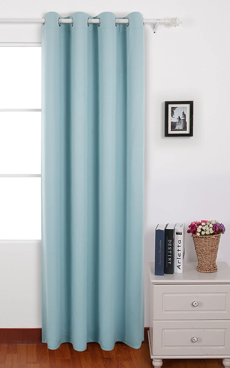 Deconovo Room Darkening Thermal Insulated Blackout Grommet Window Curtain Panel For Living Room