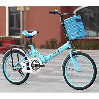 LINGS Foldable Bicycle Kids' Bikes 16 inch Folding Bike Adult Child Bike Student car: Home & Kitchen