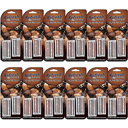Lexol Leather Air Freshener Pack with 4 x Leather Vent Sticks (12)