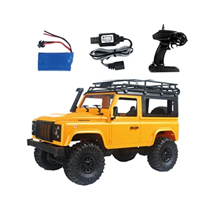 RC Cars Toy Car Remote Control Toy Car LED Light 2 Body Shell Roof Rack Crawler Truck RTR Toy MN-90 1/12 2.4G 4WD RC Car W/Front Baby Car Seats & Accessories
