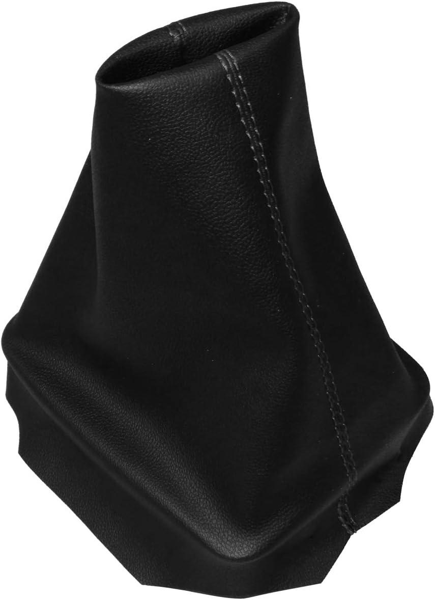 Soufflet de levier de vitesse en simili cuir avec couture//surpiq/ûres couleurs variables noir et rouge AERZETIX
