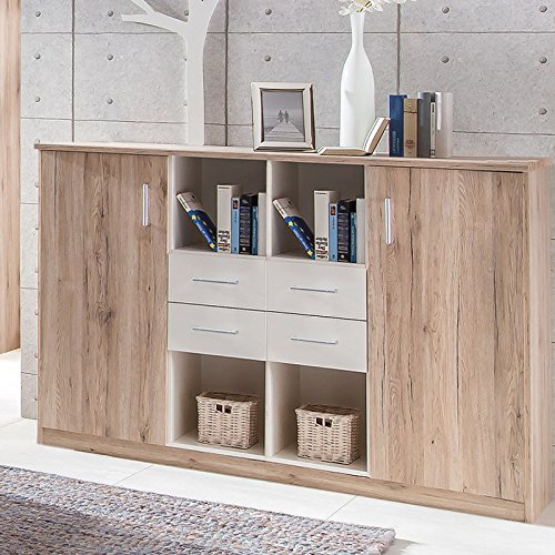komplett kinderzimmer set sanremo eiche jugendzimmer kleiderschrank hochbett bettmix. Black Bedroom Furniture Sets. Home Design Ideas
