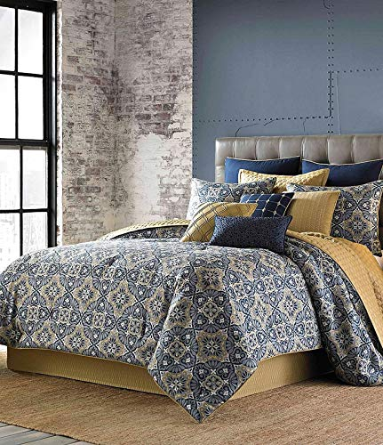 Candice Olson Aureo Medallion Jacquard 6 Piece Queen Comforter Set
