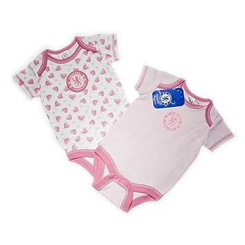 Chelsea Football Club Girls 2 Pack Bodysuits (White Pink 504134405