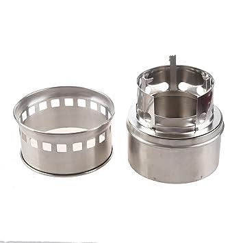 TOOGOO(R)Portatil Estufa/Estufa de alcohol solidifica en acero inoxidable Cocina al