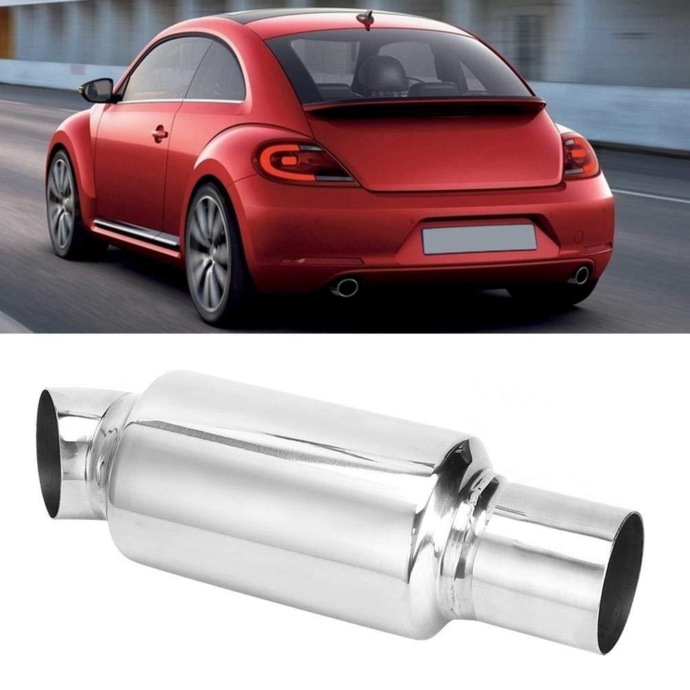 Tubo di scarico auto marmitta universale marmitta coda tubo di scarico veicolo sistema di scarico coda marmitta marmitta in acciaio inox tondo 2.0in