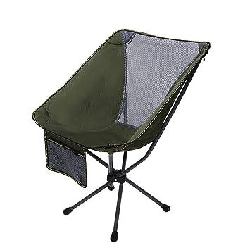 HM&DX Portátil Aire libre Sillas plegables Sillas de camping Silla ...