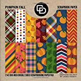 Pumpkin Fall Scrapbook Paper (14) 8x8 Inch Double Sided Scrapbooking Paper Pad: Autumn Crafters Delight By Leska Hamaty