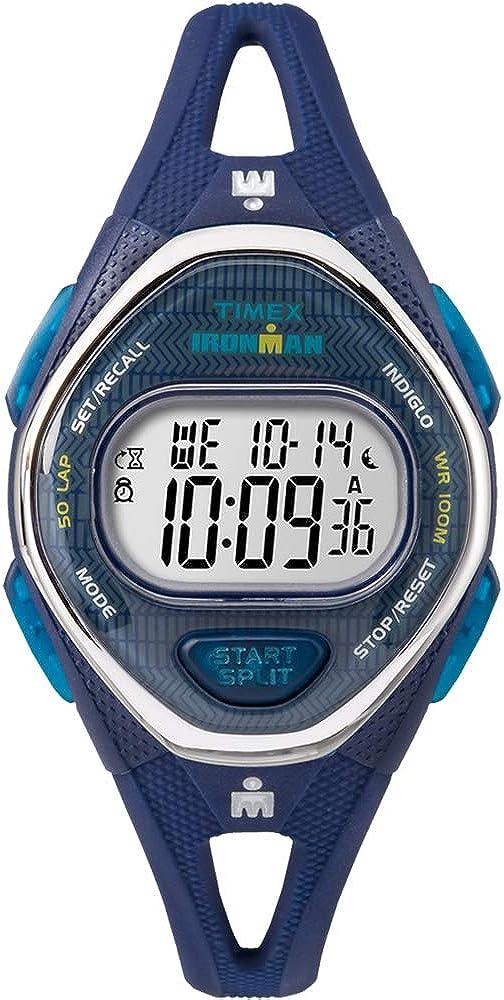 Timex Ironman Sleek 50 - Reloj de silicona (tamaño mediano), color azul marino