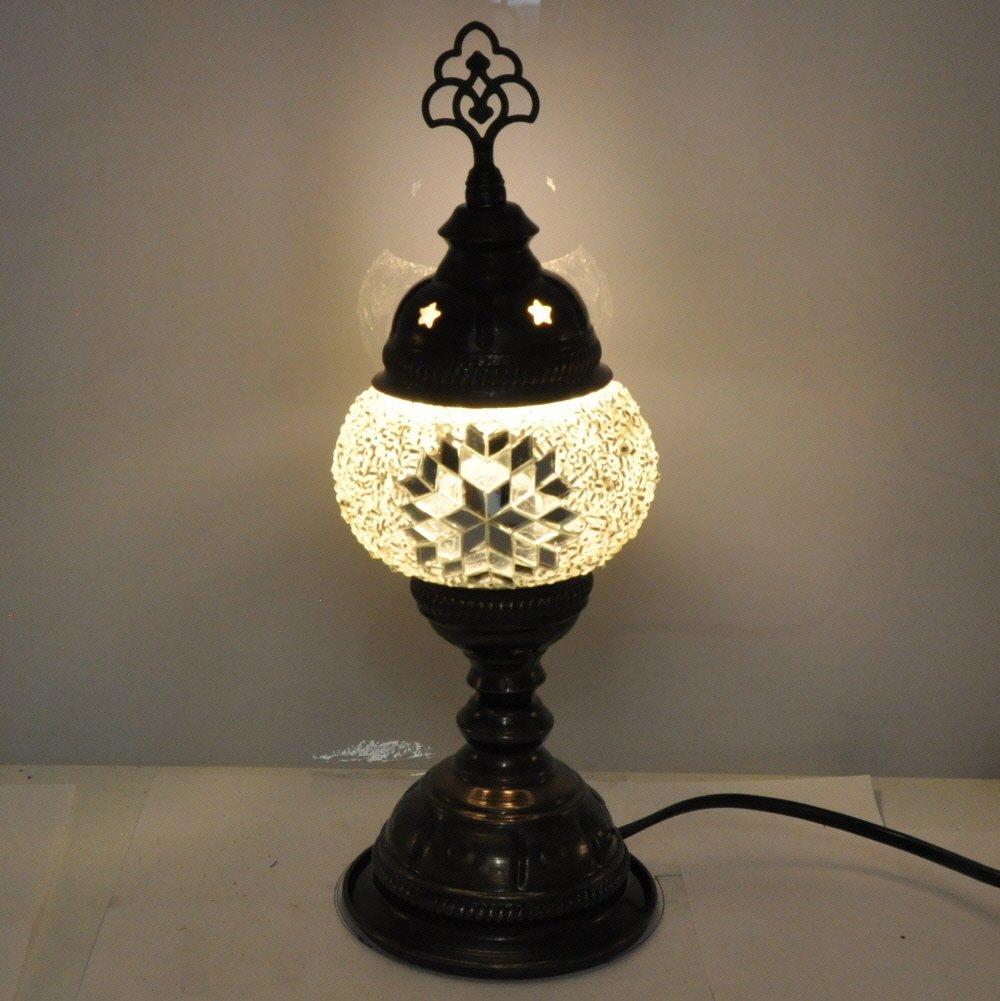 Amazon.com: Turco Mosaic lámpara de mesa – 4