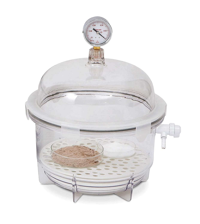 Bel-Art Lab Companion Clear Polycarbonate Round Style Vacuum Desiccator; 6 Liter (F42400-2021): Science Lab Vacuum Desiccators: Amazon.com: Industrial & ...