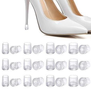 08ec2c73f17 12 Pairs High Heel Protectors Heel Stoppers Rubber Heel Repair Tips Caps  Covers to Repair Shoe Reduce...