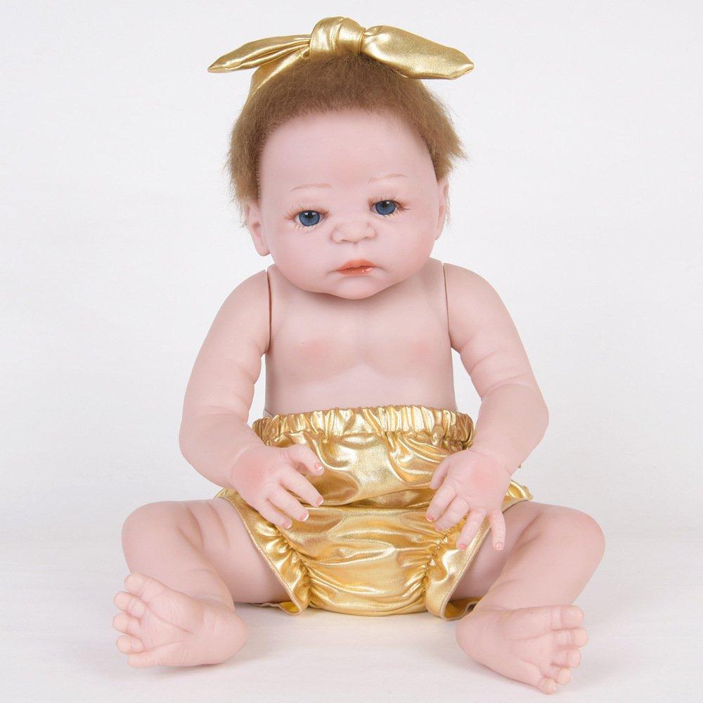 Nurturing Dolls Muñeca Reborn 55cm Boy Bebé Niño Pequeño Suave Silicona Vinilo Realista Reborn Baby Doll Niñas Magnetismo Juguetes Bebes Recien Nacidos